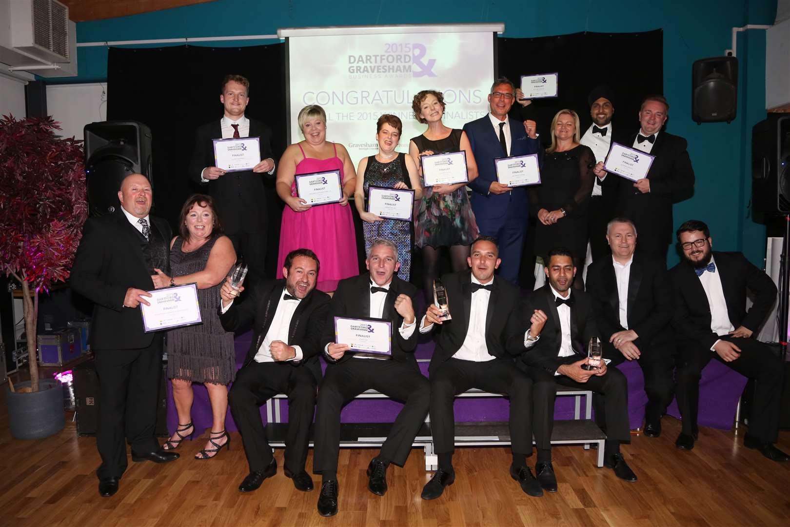 The winners and finalists at the Dartford and Gravesham Business Awards