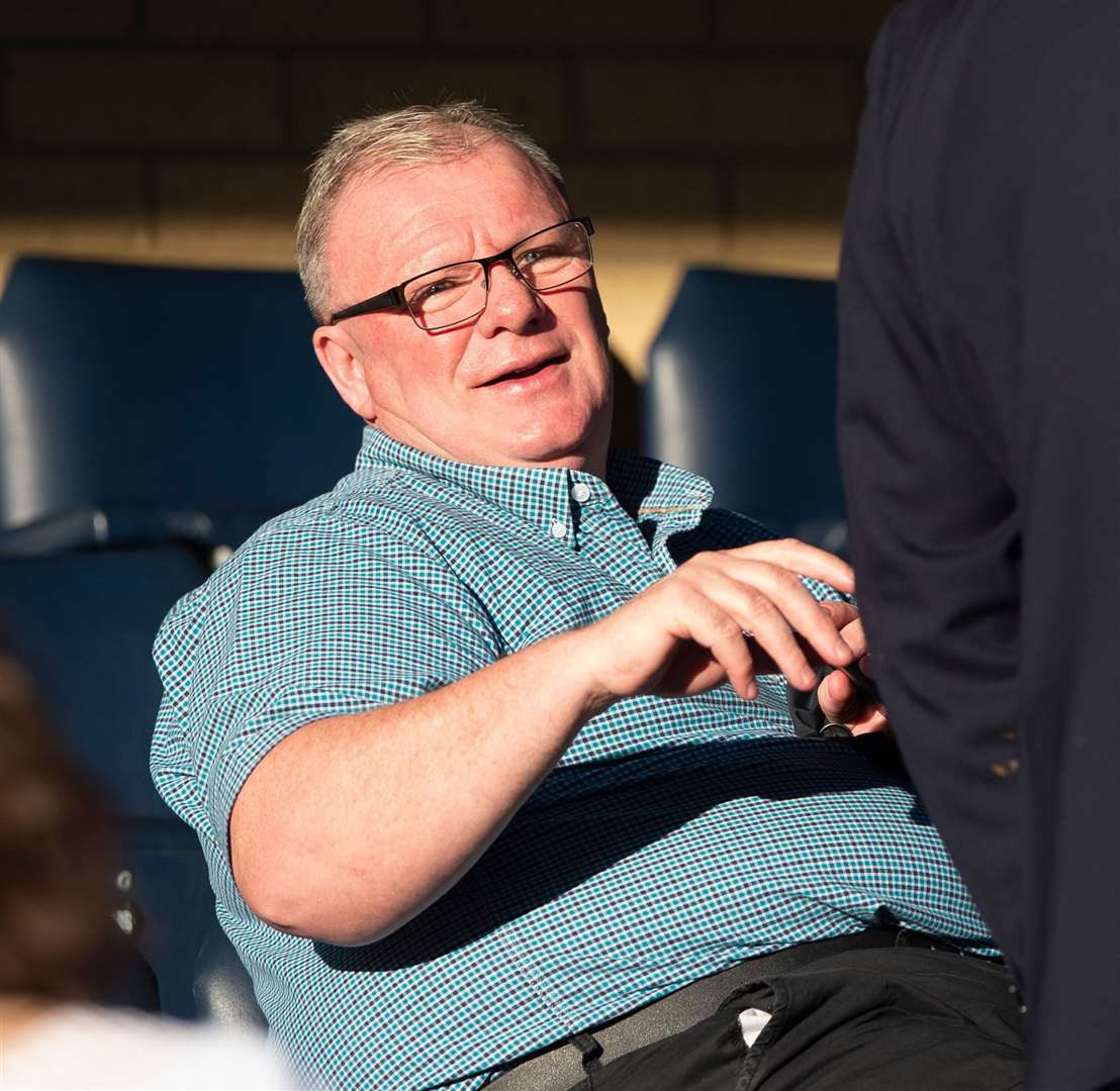Steve Evans watches the game against Wycombe Picture: Ady Kerry