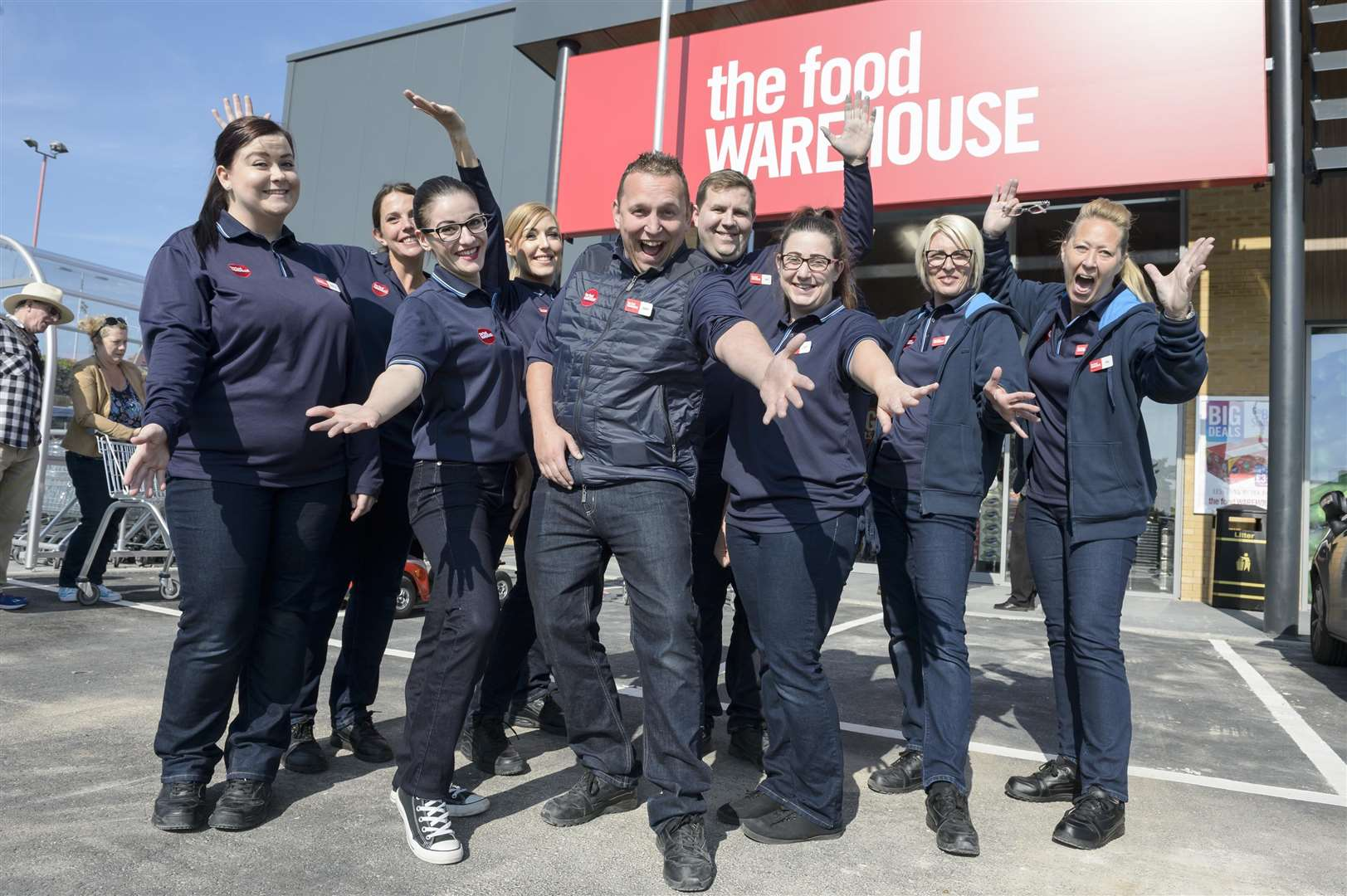 Staff at the new Sittingbourne store