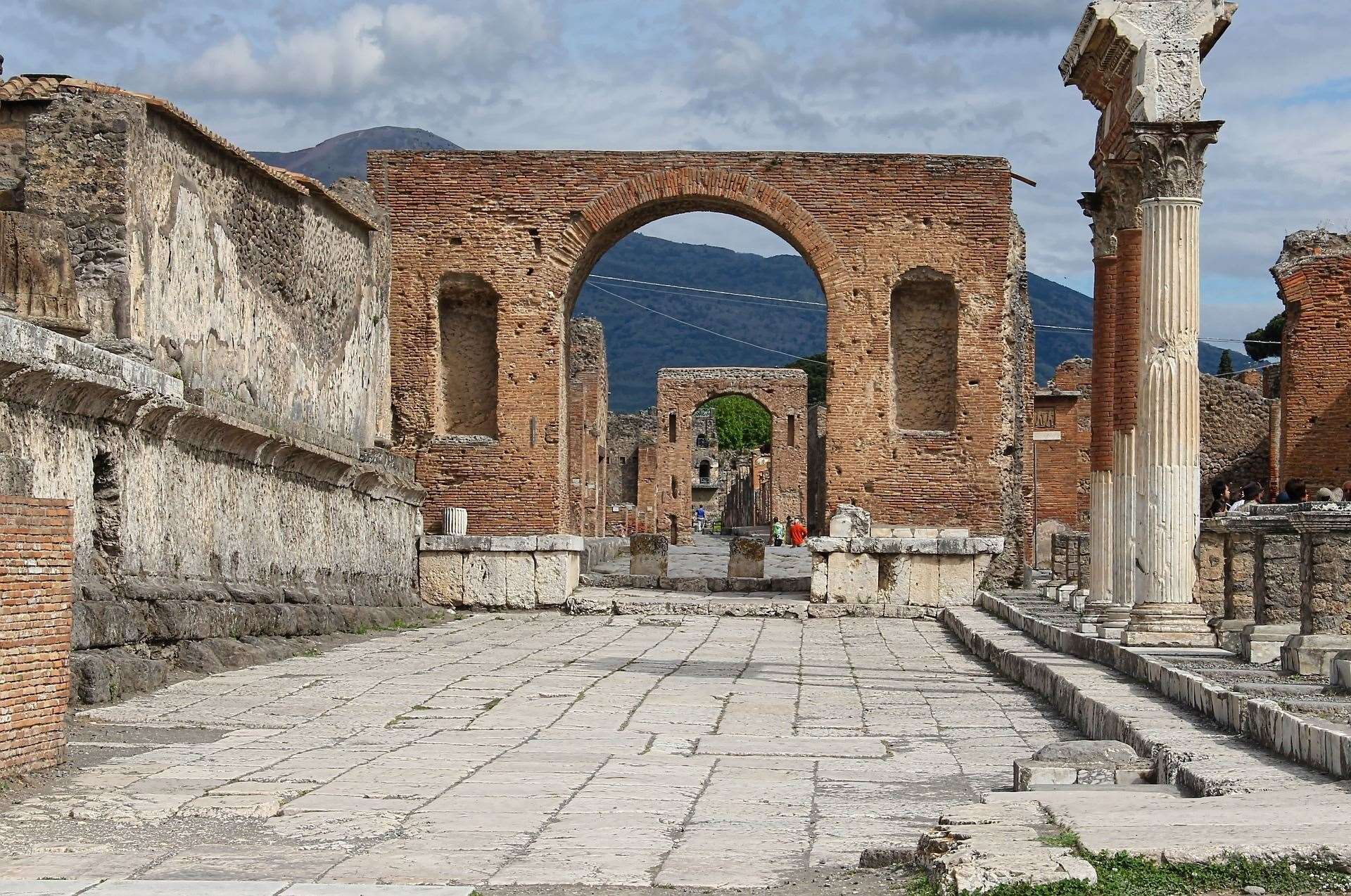 Pompeii, where a British tourist is alleged to have tried to steal tiles from a mosaic (8379902)