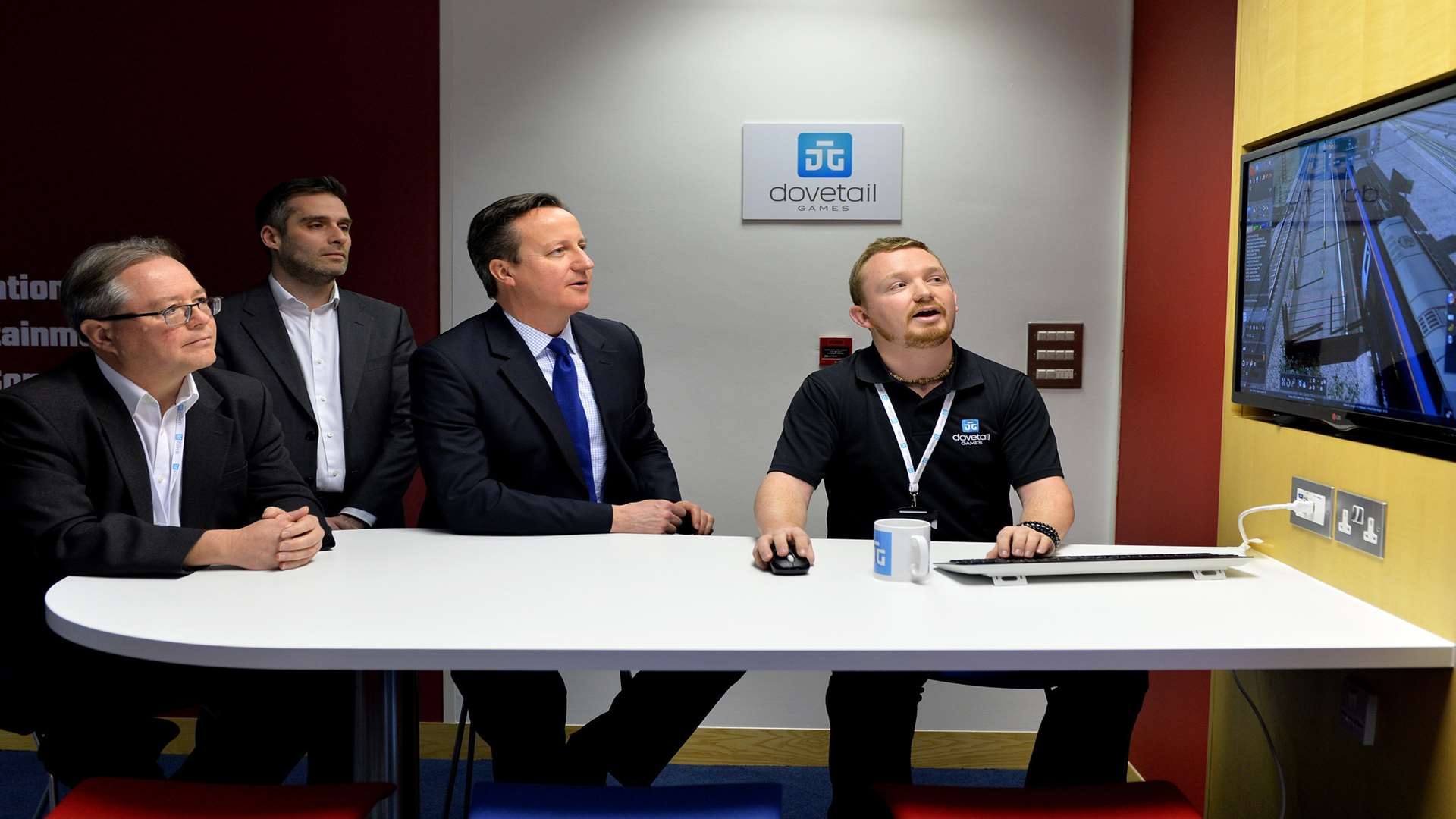 David Cameron visited Dovetail Games in Chatham last year. Picture: Crown Copyright
