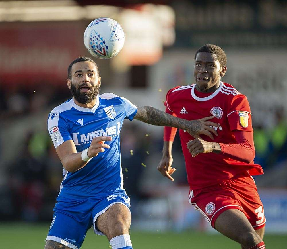 Accrington Stanley v Gillingham match action Picture: Ady Kerry (20207494)