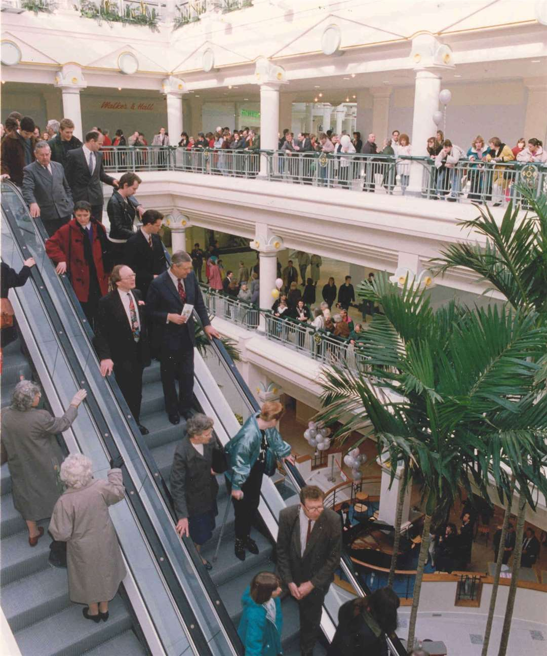 Inside Royal Victoria Place's main shopping mall in April, 1992