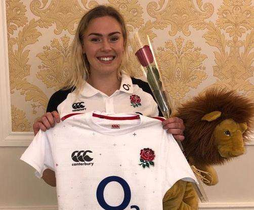 Rosie Galligan took up rugby just five years ago and is now an England international