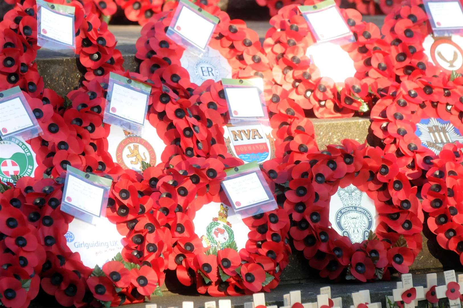 Towns and villages across the county will hold wreath-laying ceremonies