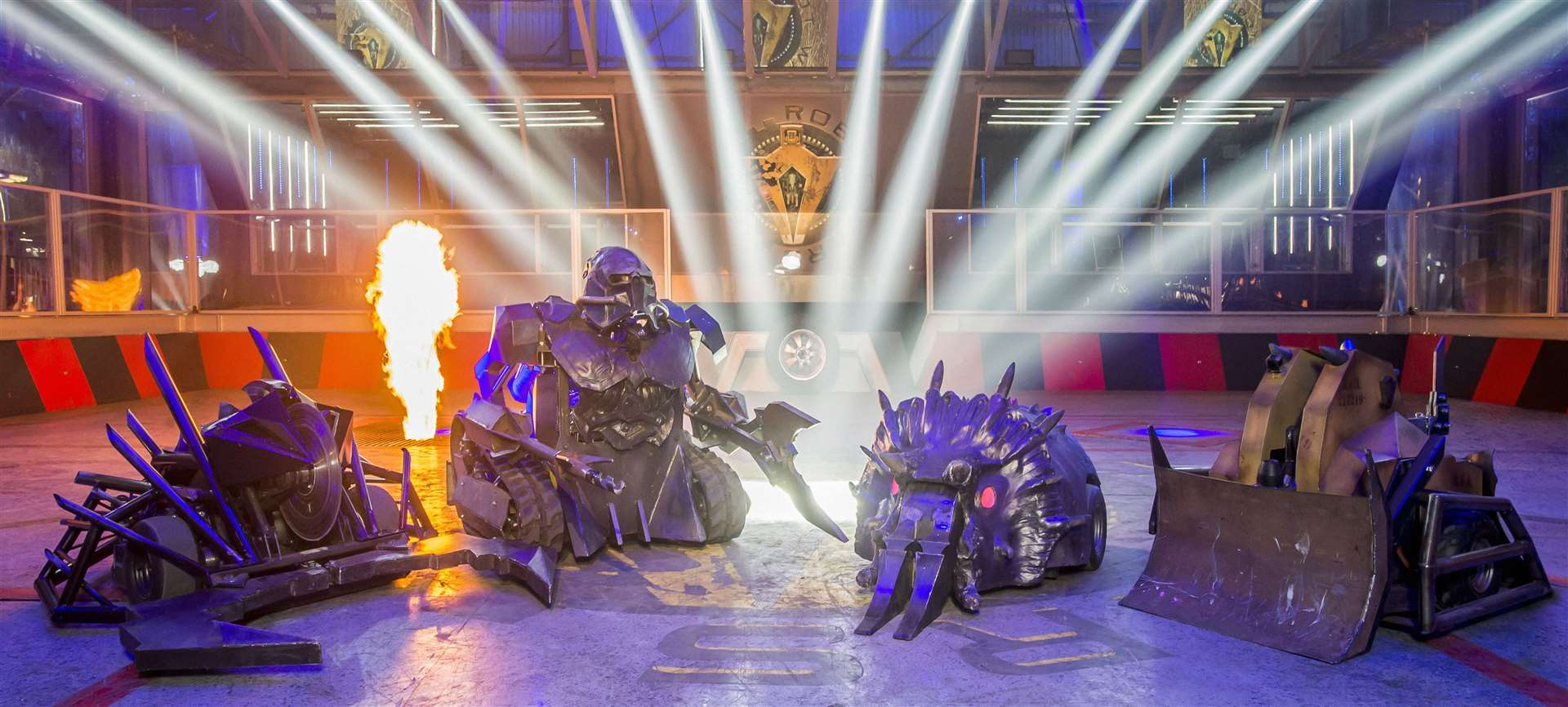 The house robots on BBC 2's Robot Wars