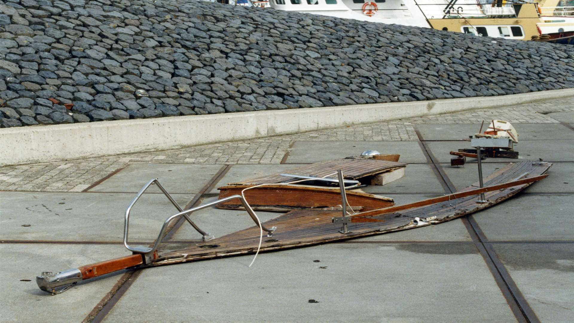 Parts of the wooden boat found in Holland