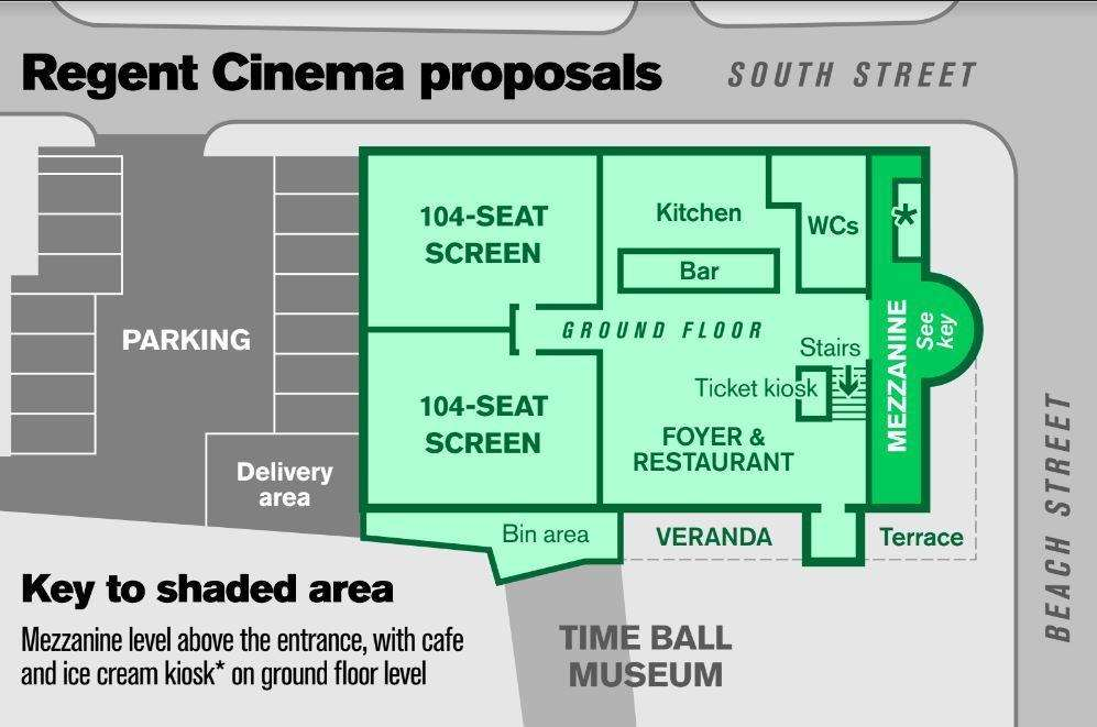 The proposed floorplan of The Regent Cinema (6286789)