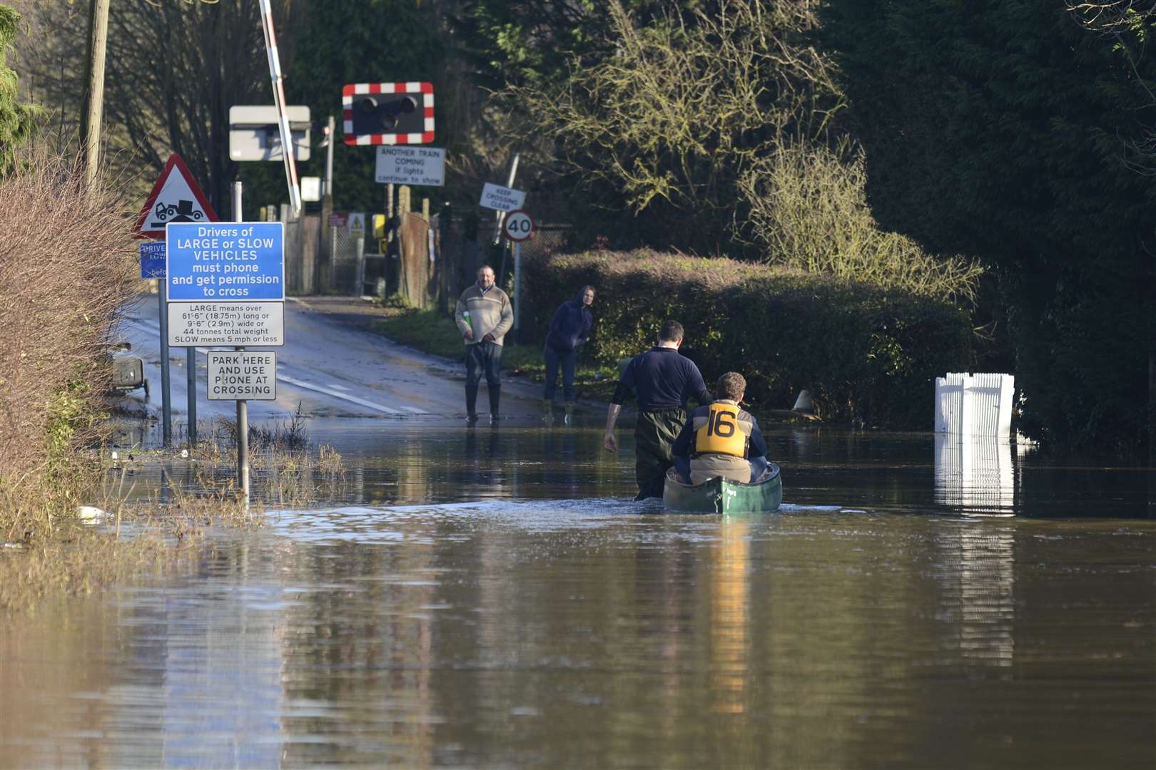Hampstead Lane near Yalding Station flooded over Christmas in 2013. Picture: Martin Apps