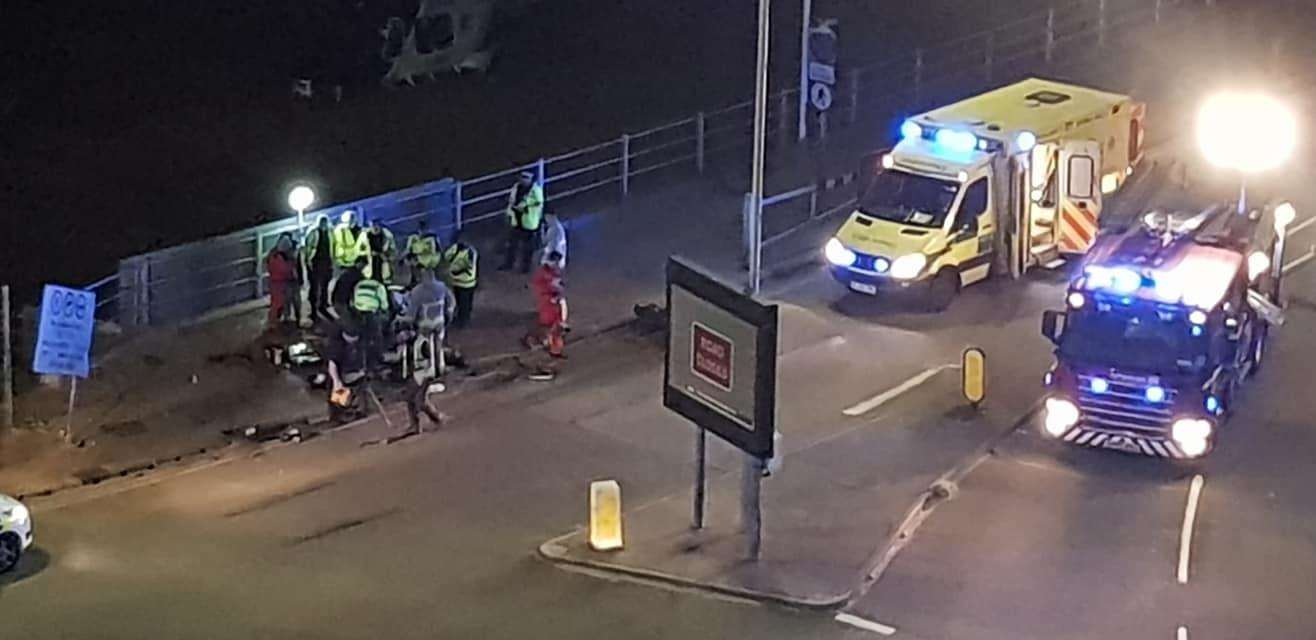 Emergency services attended the scene in Royal Harbour Approach in Ramsgate Picture: John Smiddy Smith (3551762)