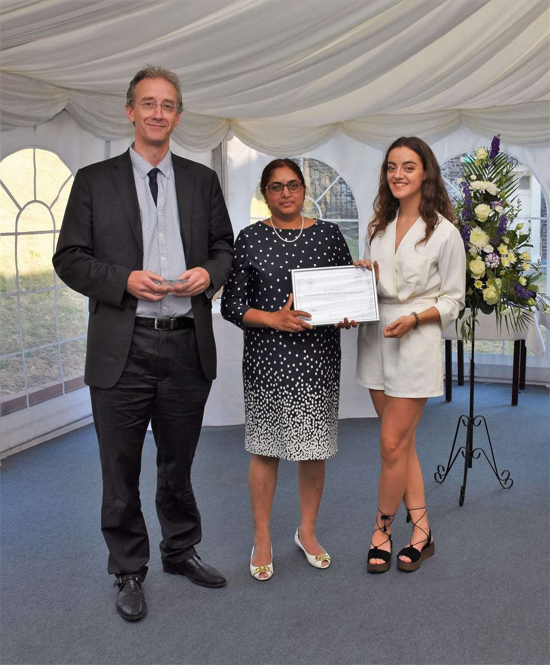 Joint winners of the 2018 Hospital Hero awards Howard Marsh and Padma Vankayalapati with Rachel Dixon from the Medway Messenger (8618029)