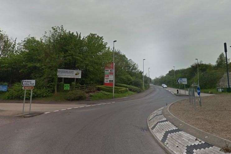 The pedestrian was hit by a car on Sundridge Hill, near Strood. Picture: Google