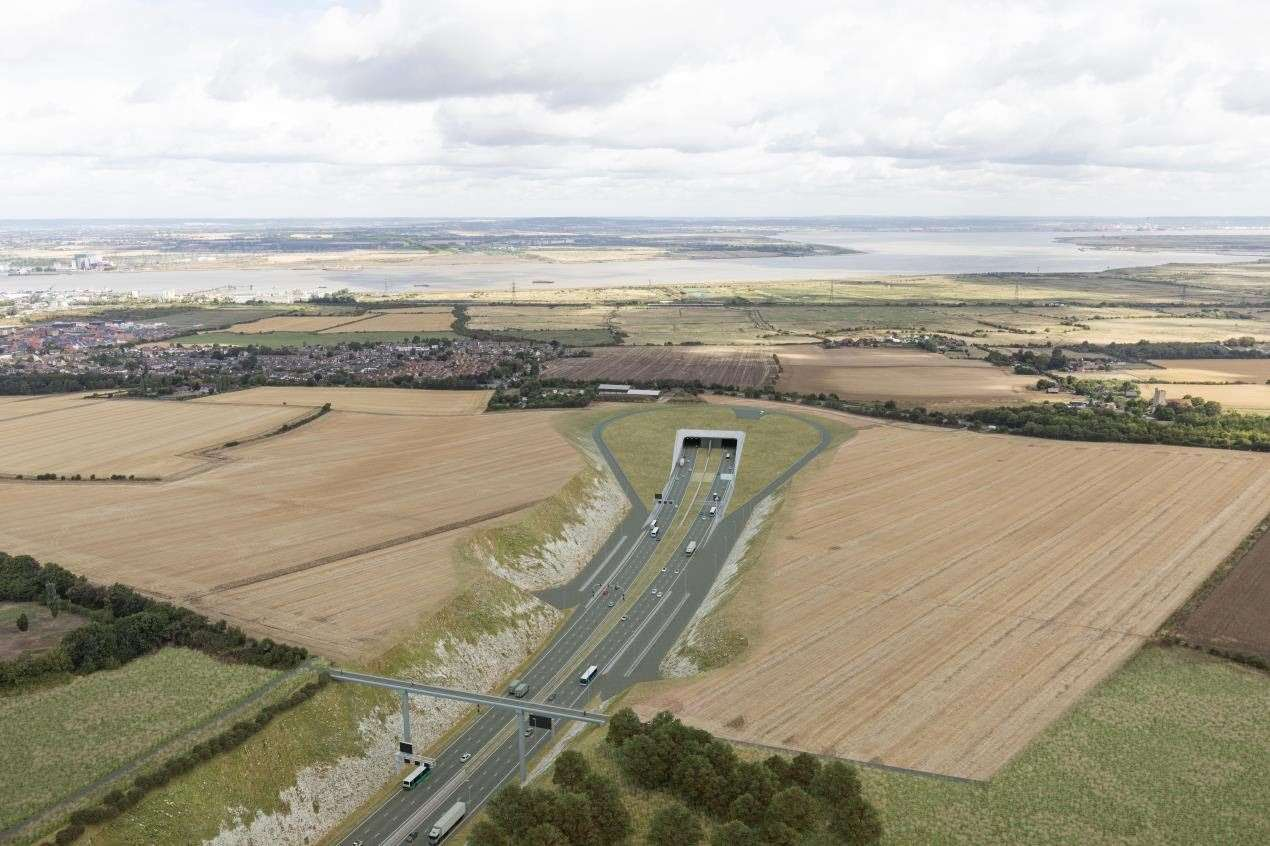 How the southern portal of the Lower Thames Crossing, in Kent, will look