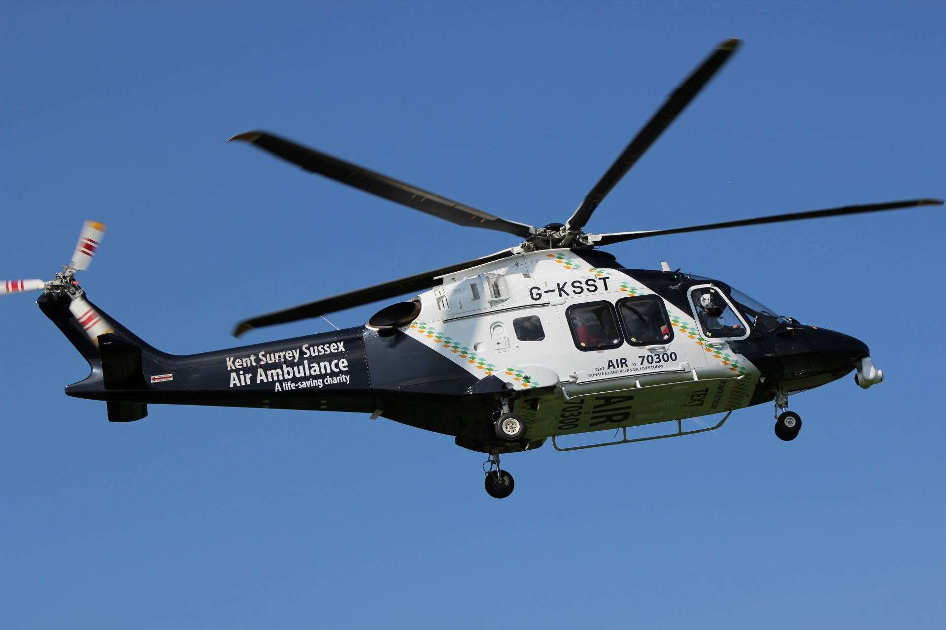 Kent Air Ambulance emergency helicopter. File photo (14083277)