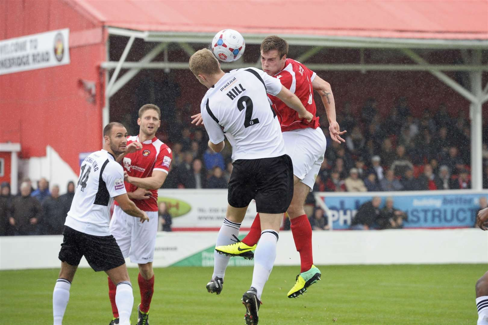 Josh Hill playing against Ebbsfleet during his first spell at Dartford Picture: Andy Payton