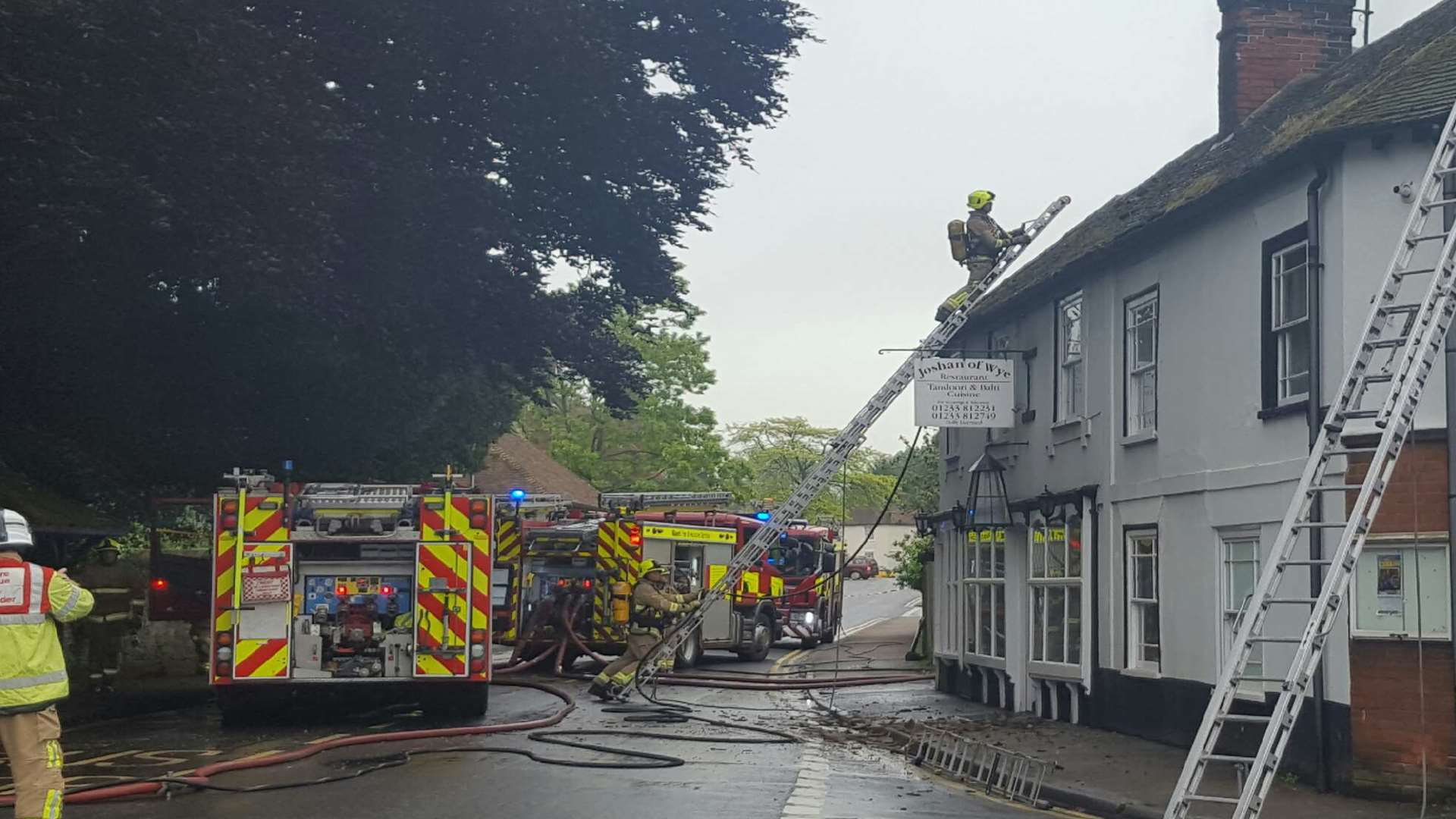 A fire ripped through the Joshan of Wye