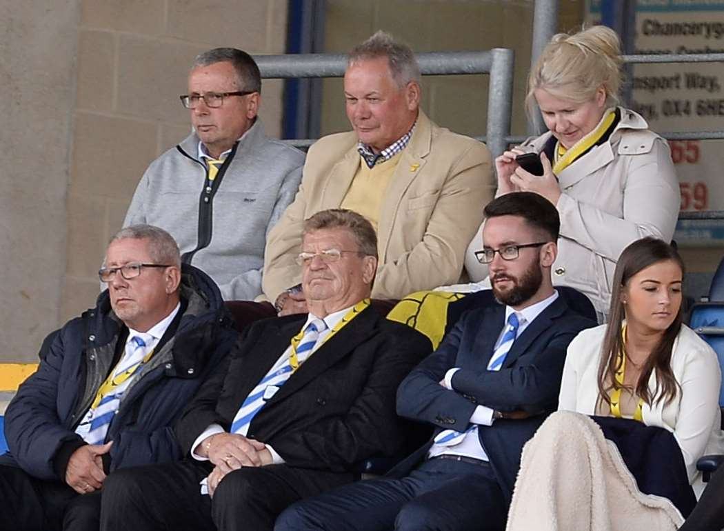 Gills chairman Paul Scally watches on from the stands. Picture: Ady Kerry