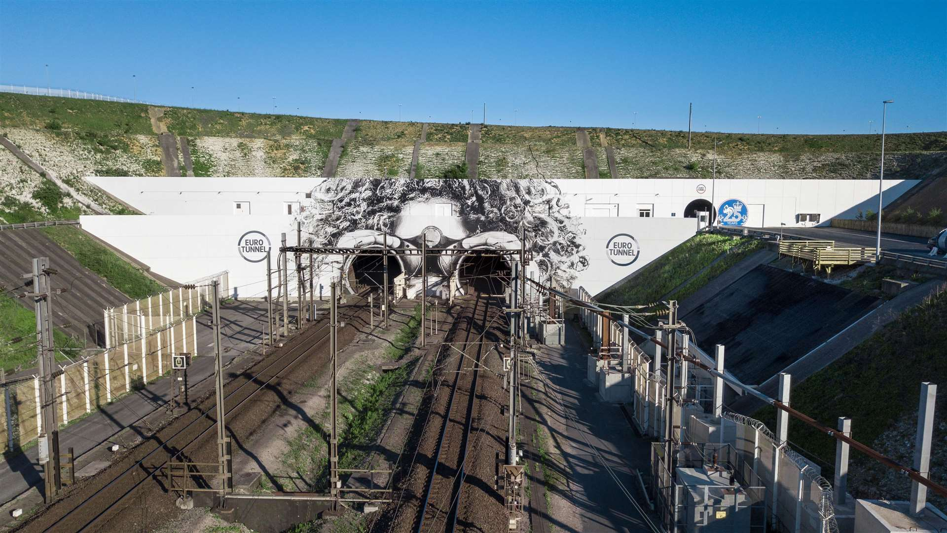 The design on the French side of the entrance to the Channel Tunnel (13429163)
