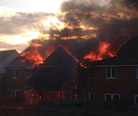 The devastating fire in Cornfield Row in Deal Picture: Bliss Wilson