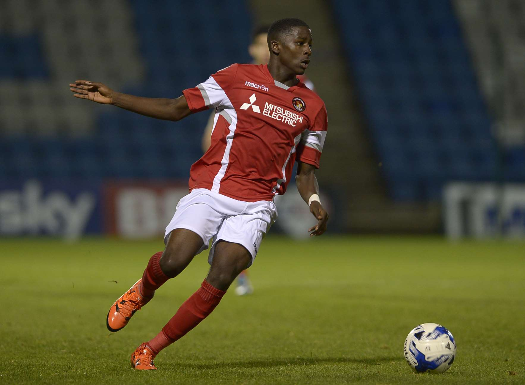 Shilow Tracey in action for Ebbsfleet United's under-18 side Picture: Barry Goodwin