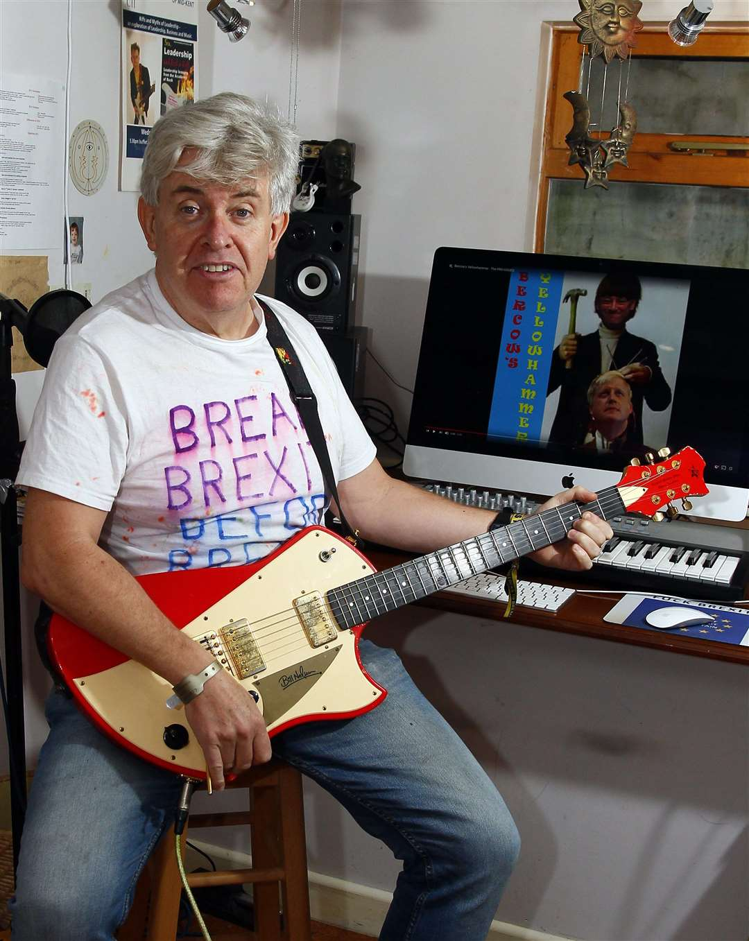 Peter has written an album which has been popular on Amazon, pictured at his home in Gillingham. Picture: Sean Aidan