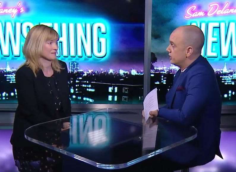 Rosie Duffield interviewed on Russia Today's News Thing. #newsthing