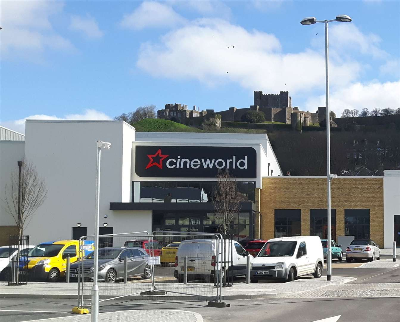 The lights will be turned on outside Cineworld. Picture: Sam Lennon