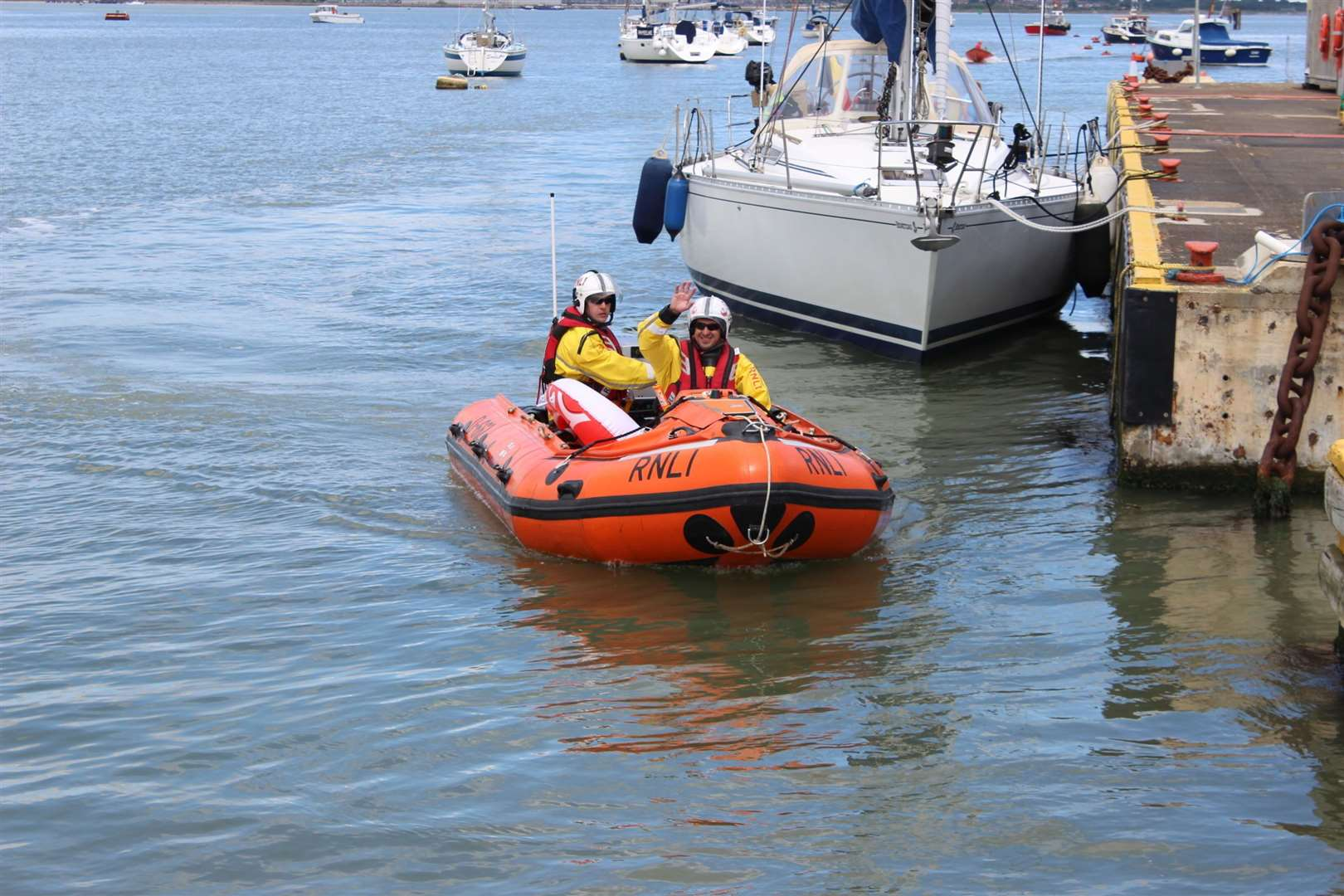 Sheerness RNLI inshore lifeboat at Queenborough. File photo