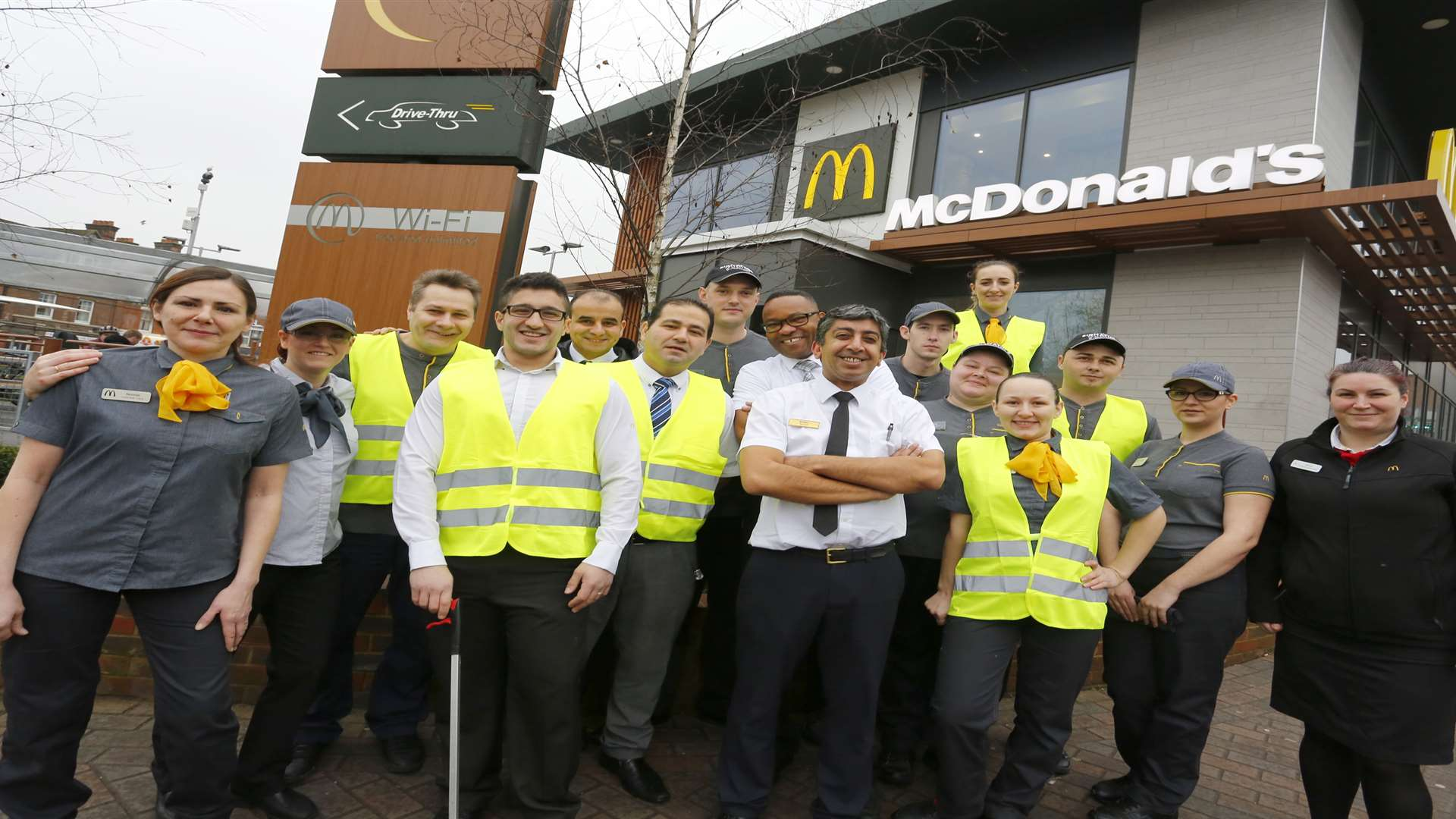 McDonald's staff who are going to be involved in a litter clean up event.