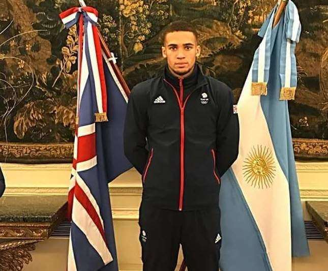 Karol Itauma in Buenos Aires, Argentina, at opening ceremony of the Youth Olympics