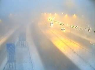 Snow on Blue Bell Hill. Picture: Highways England