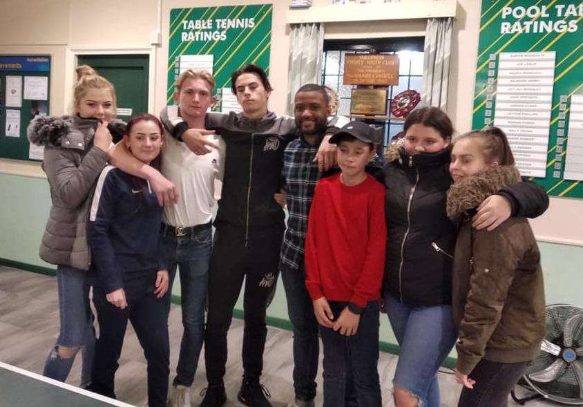 JB Gill at Sheerness County Youth Club