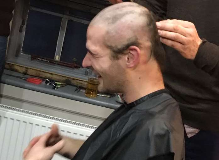 Jon's locks are shaved off as he and his pal raise more than £3,000 for Dandelion Time
