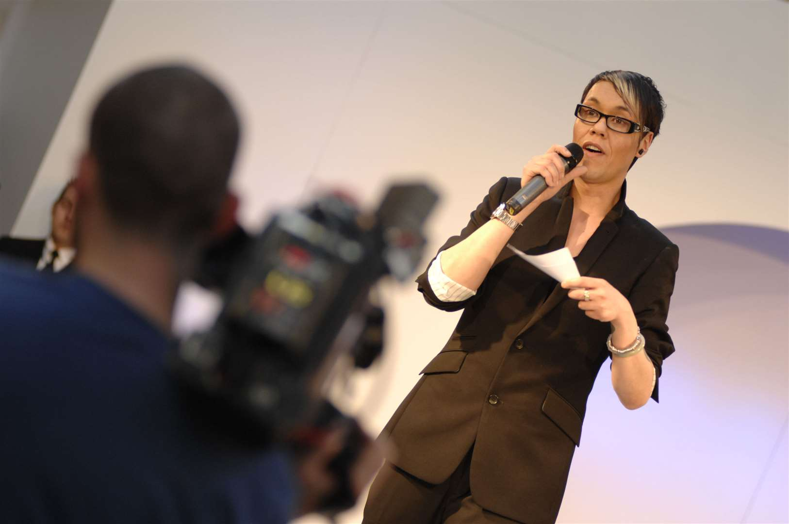 Gok Wan filming the Channel 4 series how to look good Naked at Bluewater shopping centre in 2008. Picture: Matthew Reading