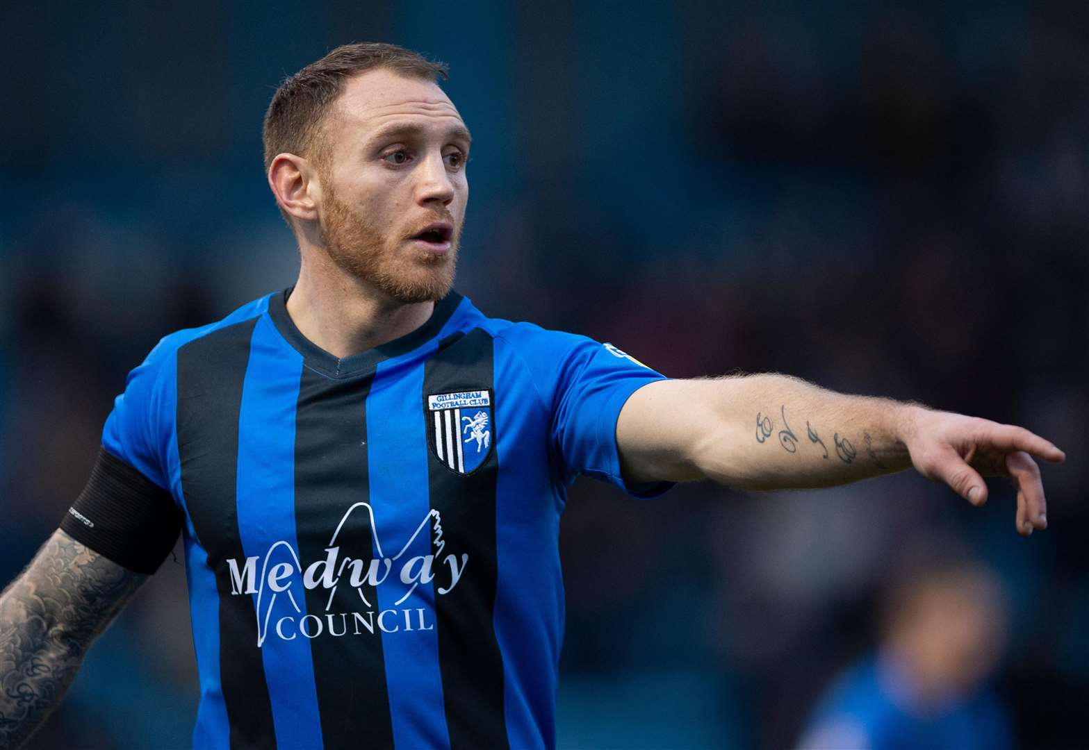 Gillingham defender Barry Fuller found Fleetwood's late leveller tough to take Picture: Ady Kerry