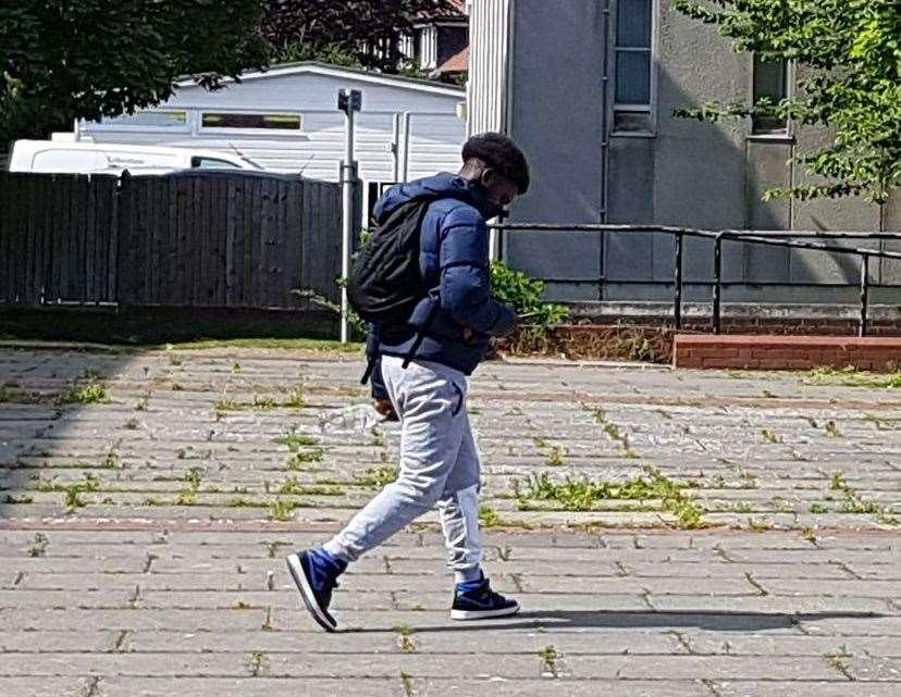 Joshua Mpia leaving Folkestone Magistrates' Court on Tuesday