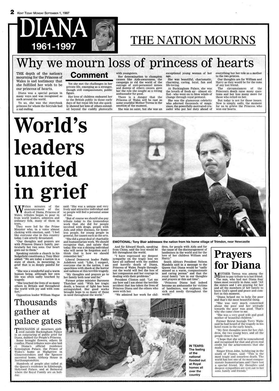 Princess Diana 20 years on: How she touched the hearts of people in Kent