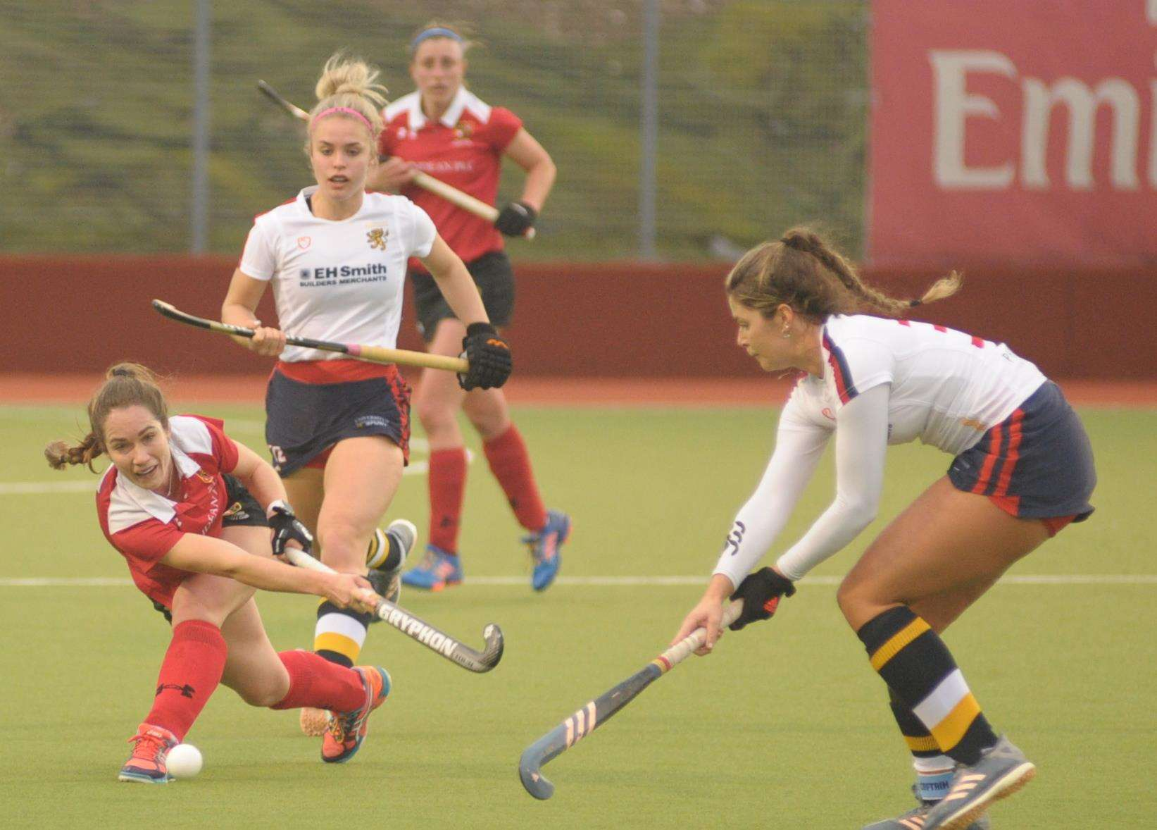 Holcombe Ladies signed off before the winter break with victory over University of Birmingham Picture: Steve Crispe