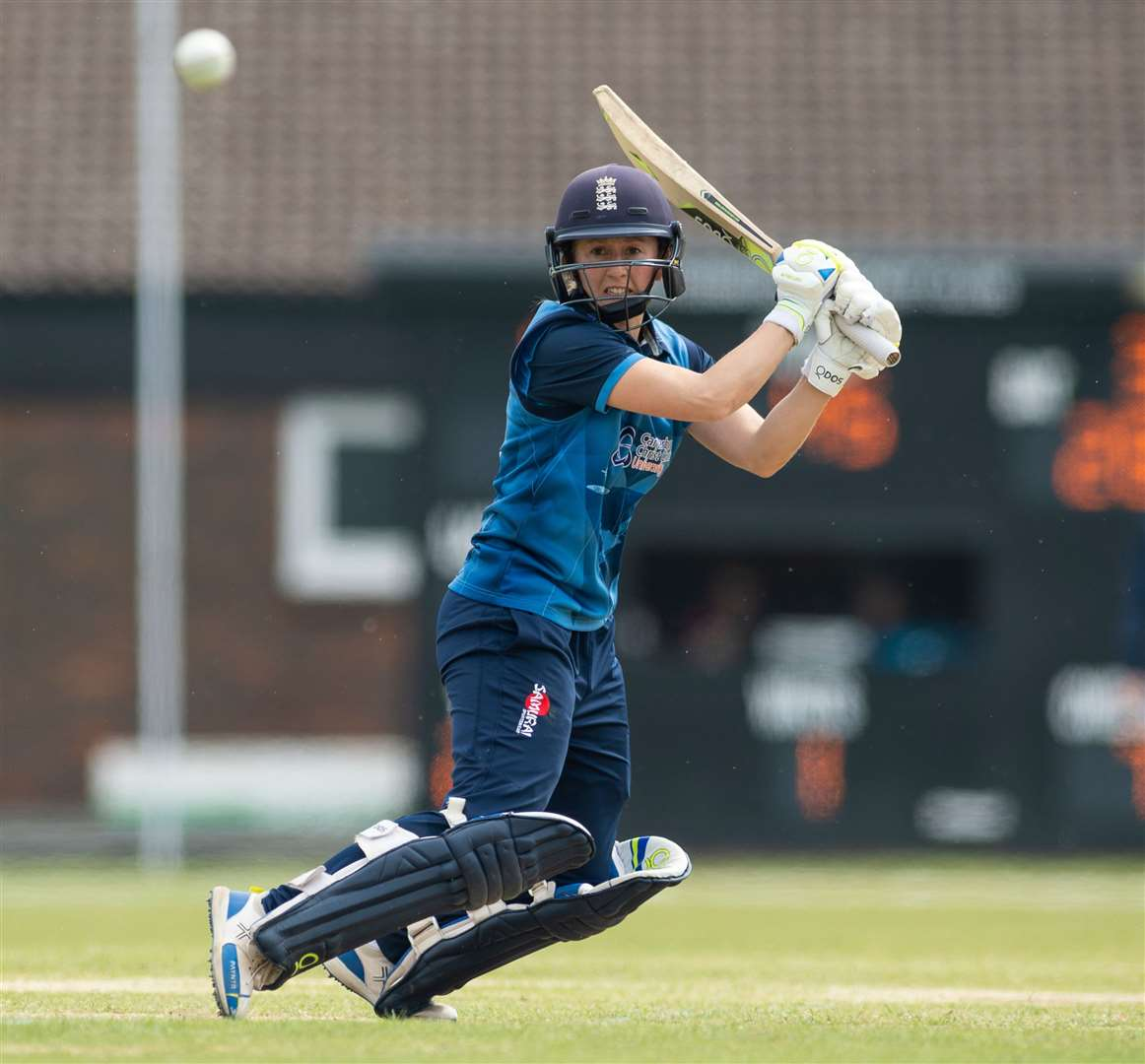 Fran Wilson in action for Kent in the Royal London Women's One Day Cup. Picture: Ady Kerry