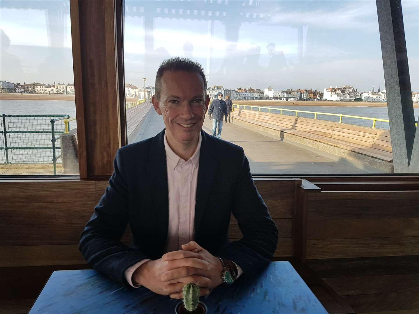 Dover District Council's portfolio holder for property management and environmental health Cllr Trevor Bartlett has played an important role in pushing through the pier project