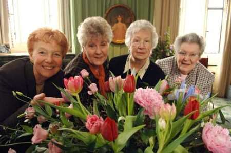 Organisers at last year's flower festival