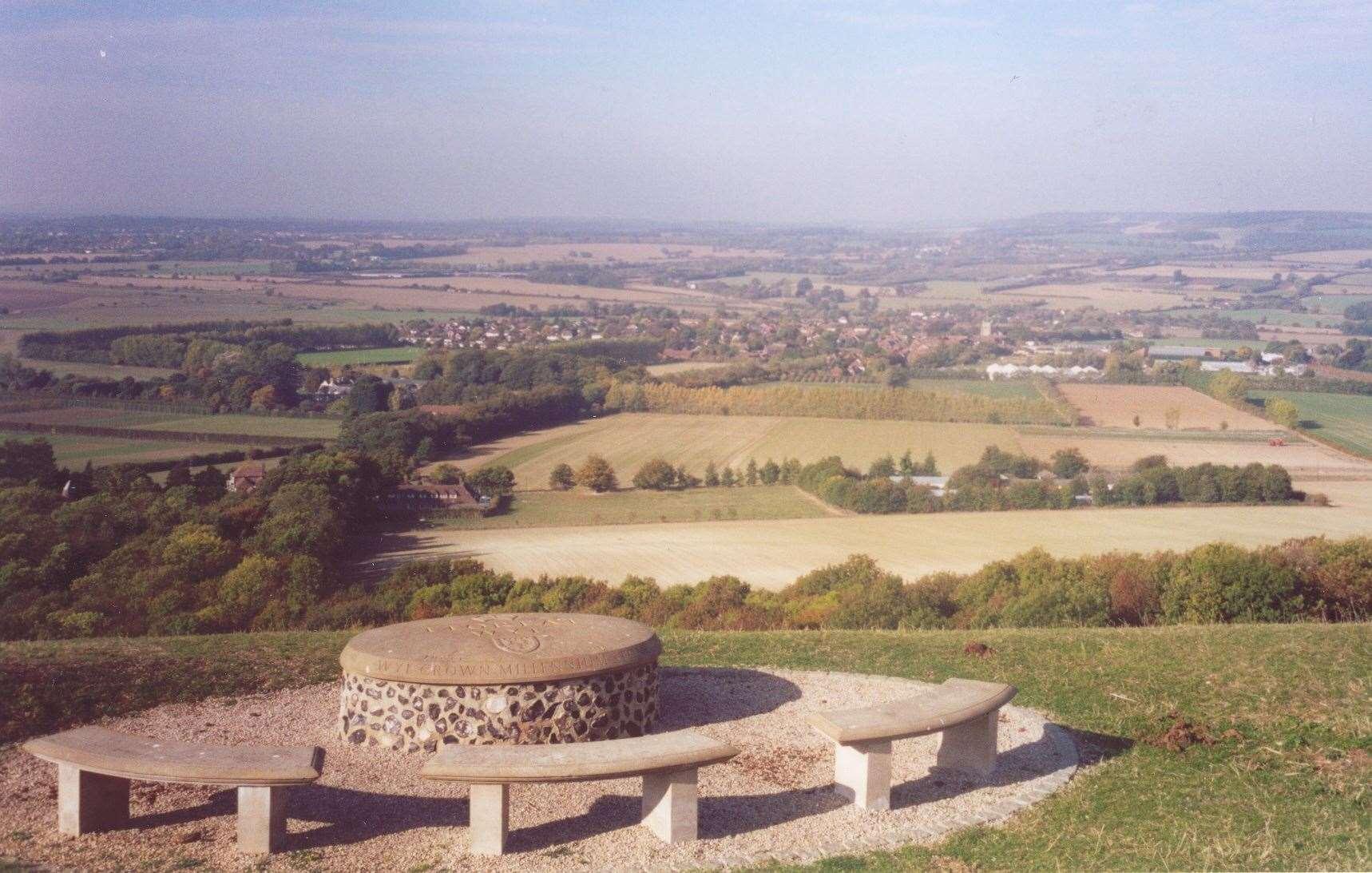 La vista superior de Wye Crown en 2003