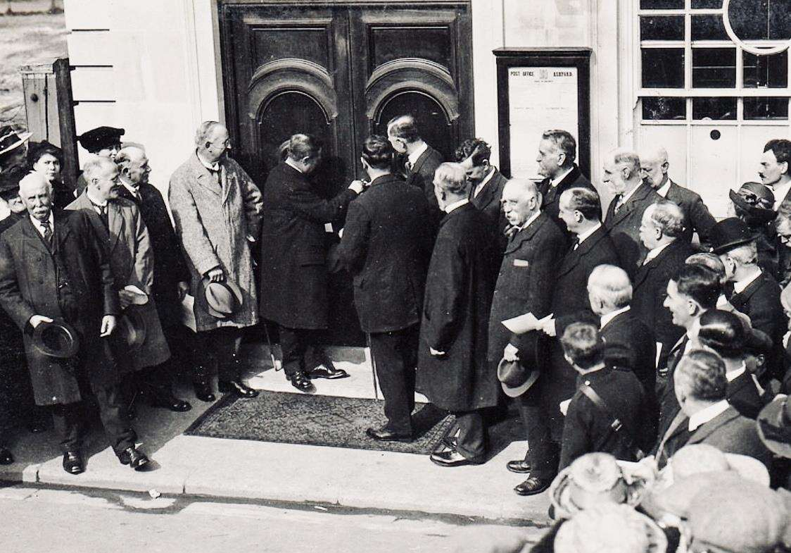 The Post Office's opening in 1926 in Tufton Street