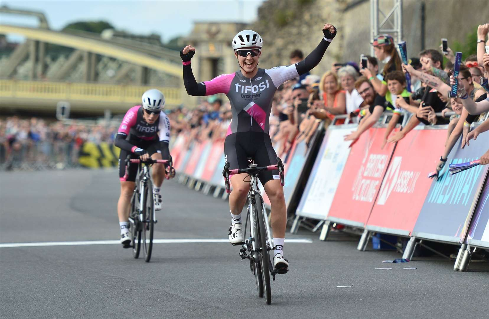 Rebecca Durrell victorious at the HSBC UK National Circuit Championships in Rochester Picture: SWPix