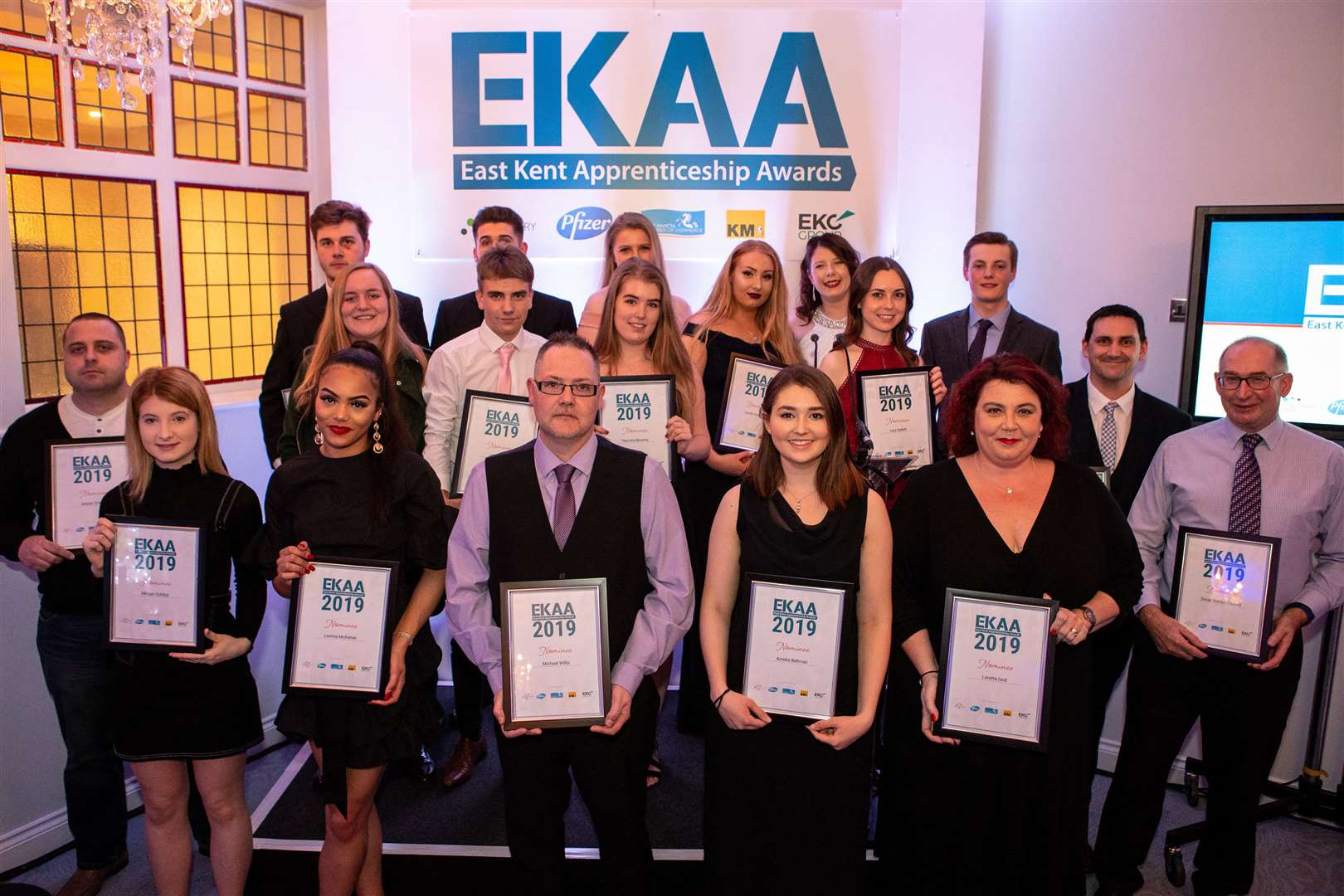 Winners show off their awards at the inaugural East Kent Apprenticeship Awards at The Yarrow in Broadstairs (7698962)