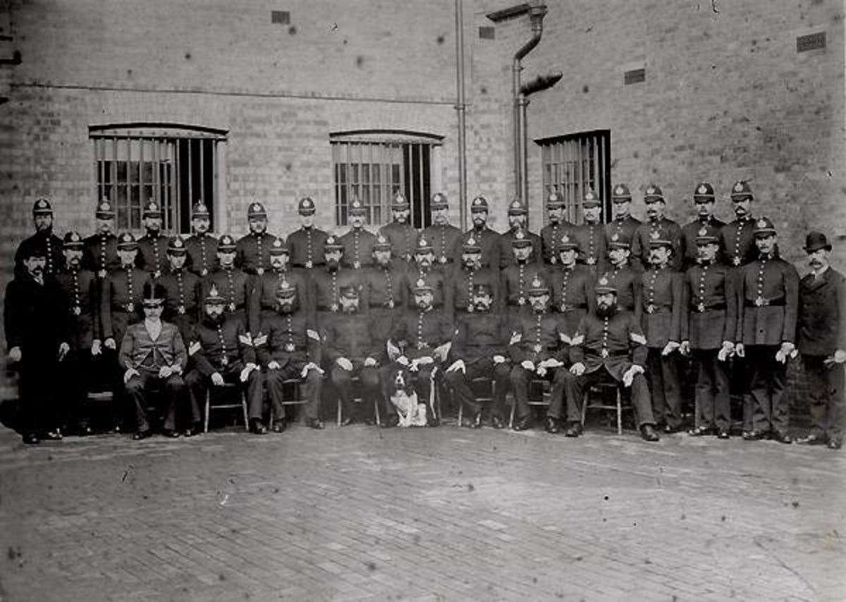 City of Canterbury Police officers. Picture: Kent Police Museum