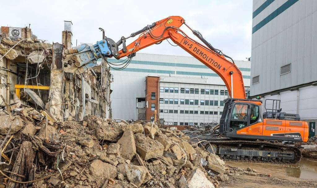 The factory has already been demolished