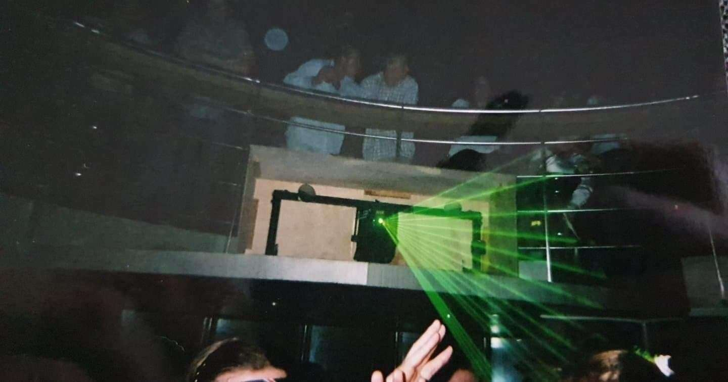 The popular green laser machine at The Zone. Pic Stefan Bennett