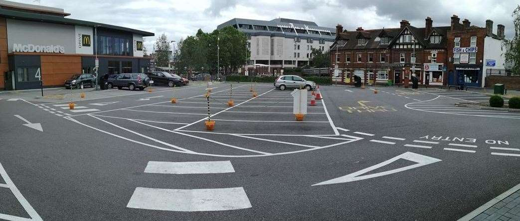 McDonalds in Hart Street, Maidstone have traffic managment officers in place