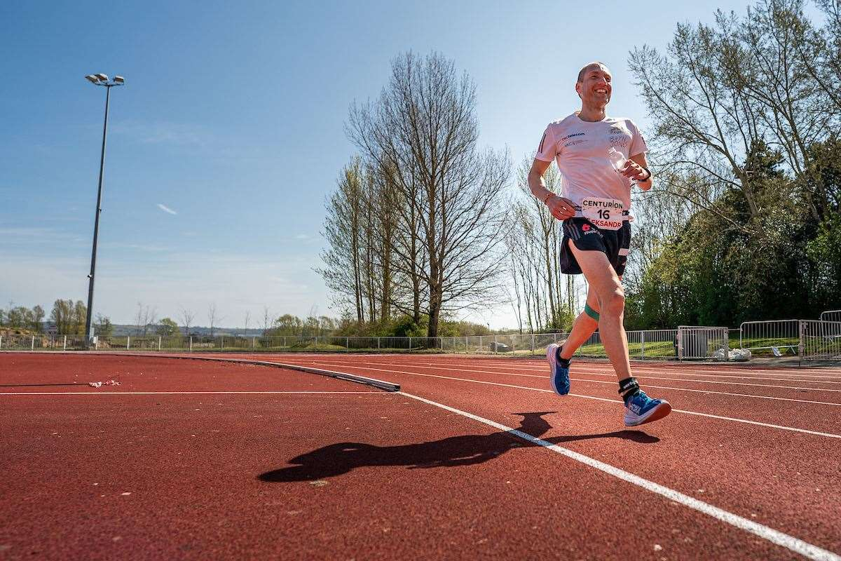Aleksandr Sorokinran went on to complete a 12-hour run in Ashford Picture: Steve Ashworth Media/ @youinfilm